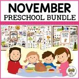 November Preschool Activities Bundle