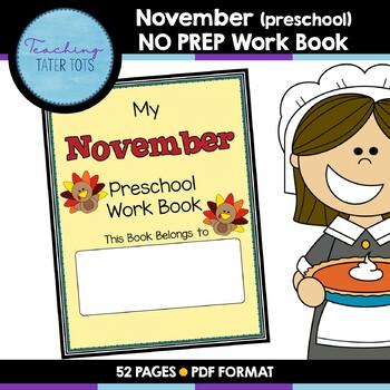 November (Preschool) NO PREP Workbook