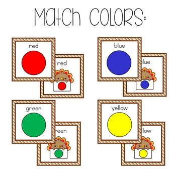November Preschool and Kindergarten Math Centers *5 centers included*