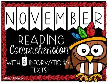 November Primary Informational (Non-Fiction) Text Pack {#TeacherMom}