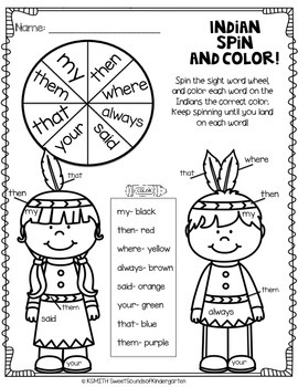 November Print & Practice- Math & Literacy First Grade!