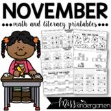 November Print and Go Printables