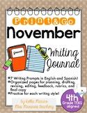 November Print and Go Writing Journal (English and Spanish)