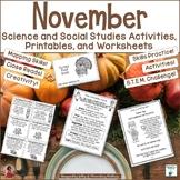 November Science and Social Studies Activities