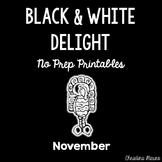 November No Prep Printables