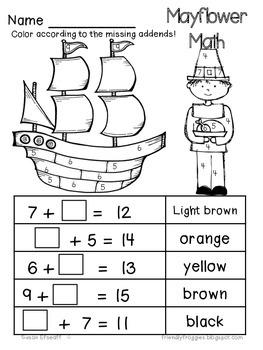 November Thanksgiving Printables - Math and Word Work