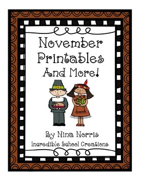 November Printables and More!