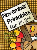 November Printables for 1st-2nd Grade!!!!
