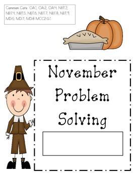 November Problem Solving (word problems)