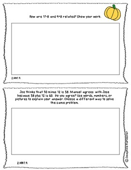 November Problem of the Day for 2nd Grade Common Core Aligned