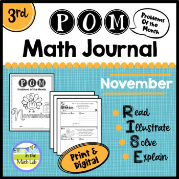 November Problems of the Month (POM) Math Pack - 3rd Grade