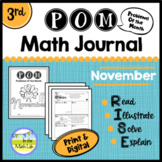 Math Problem-Solving - 3rd Grade November POM Pack