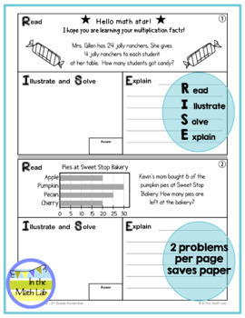 Math Problem-Solving - 3rd Grade November POM Pack