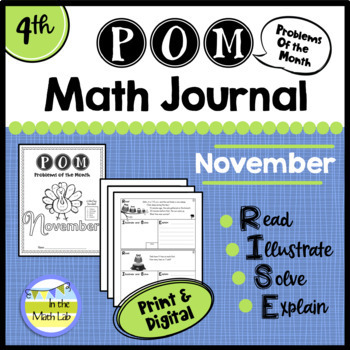 November Problems of the Month (POM) Math Pack - 4th Grade