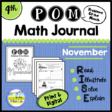 Math Problem-Solving - 4th Grade November POM Pack
