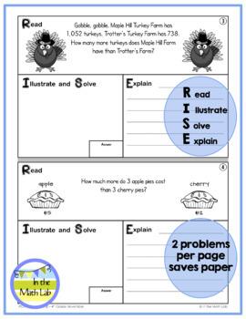 Math Problem-Solving - 4th Grade November POM Pack