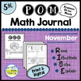 Math Problem-Solving - 5th Grade November POM Pack