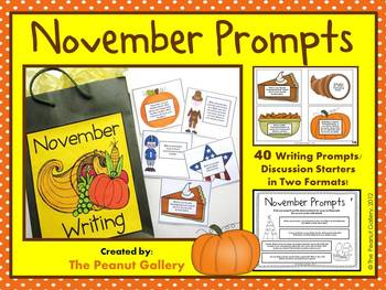 November Prompts (40 Writing Prompts/Discussion Starters)