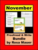 November Proofread and Write Activity Google Forms & Print