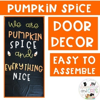 November Pumpkin Spice bulletin board or door decor