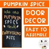November Pumpkin Spice bulletin board or door decor