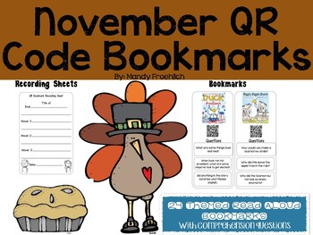 November QR Code Bookmarks