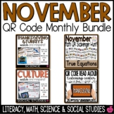 November QR Codes Bundle - Reading, Math, & Science