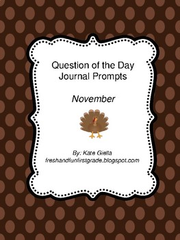 November Question of the Day Journal Prompts