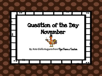 November Question of the Day Prompts