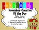 November Question of the Day based on  My Teaching Strategies