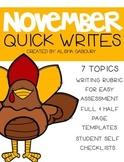 November Quick Writes