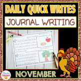November Quick Writes (Daily Journal Writing Prompts)