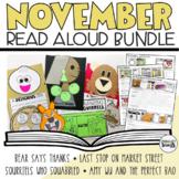 November interactive READ ALOUD LESSONS and ACTIVITIES BUNDLE (Kindergarten)