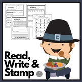 November Read Write and Stamp! Set Four