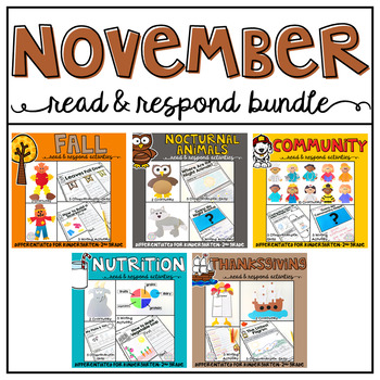 November: Read and Respond BUNDLE