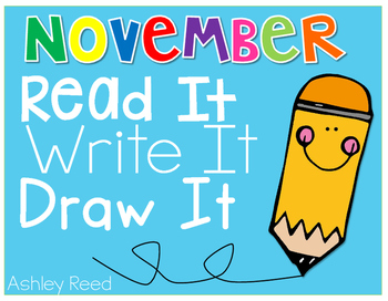 November Read and Writes {Daily Fluency Passages and Writing Prompts}