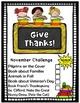 November Reading Activities (November Reading Challenge)