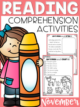 November Reading Comprehension Activities