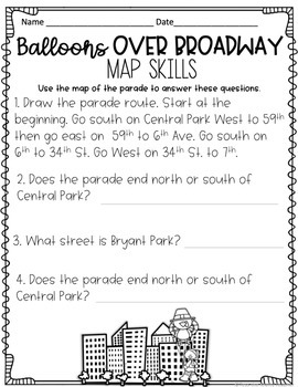 November Reading Comprehension - Balloons Over Broadway