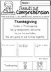 November Reading Comprehension Cut and Paste