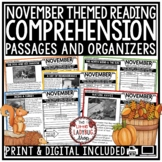 November Reading Comprehension Passages 4th Grade, 3rd Gra