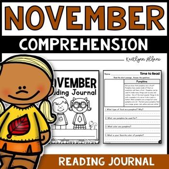 November Reading Comprehension Passages - Journal