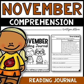 November Reading Comprehension Passages - Journal