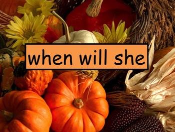 November Reading Fluency PowerPoint K-2