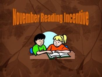 November Reading Incentive