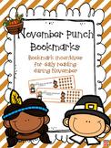November Reading Incentive Bookmark: Reward Daily Reading in Any Grade Level