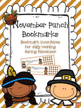 November Reading Incentive Bookmark: Reward Daily Reading