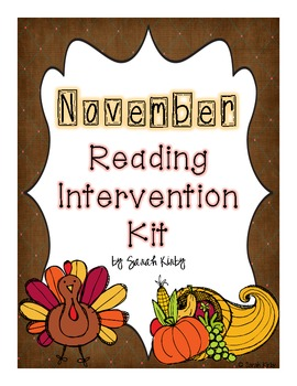 November Reading Intervention Kit