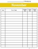 November Reading Log {Two Versions}