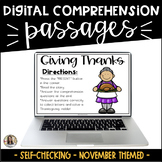 Thanksgiving Reading Passages: Digital